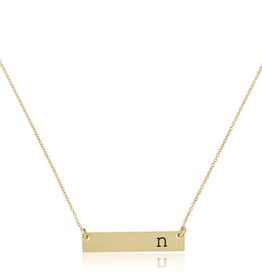 Mud Pie Chelsea Initial Bar Necklace-N