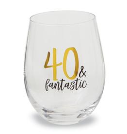 Mud Pie 40 & Fantastic Wine Glass