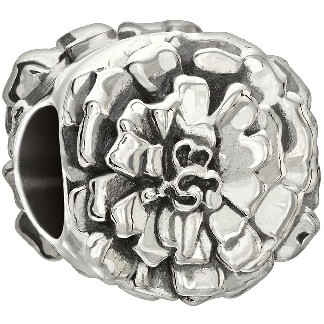Sterling Silver - Flower of the Month - October Marigold