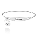 Chamilia Je t'aime ID Bangle - SS - M/L