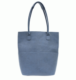 Joy Susan Chambray Kelly North South Front Pocket Tote