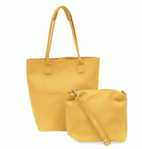 Joy Susan Dijon Kelly North South Front Pocket Tote