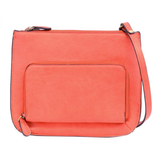 Joy Susan Coral Crossbody Bag with Exterior Zippered Pocket