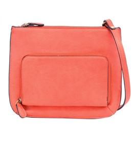 Joy Susan Coral Crossbody Bag with Exterior Zippered Pocket