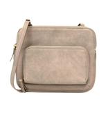 Joy Susan Driftwood Crossbody Bag with Exterior Zippered Pocket