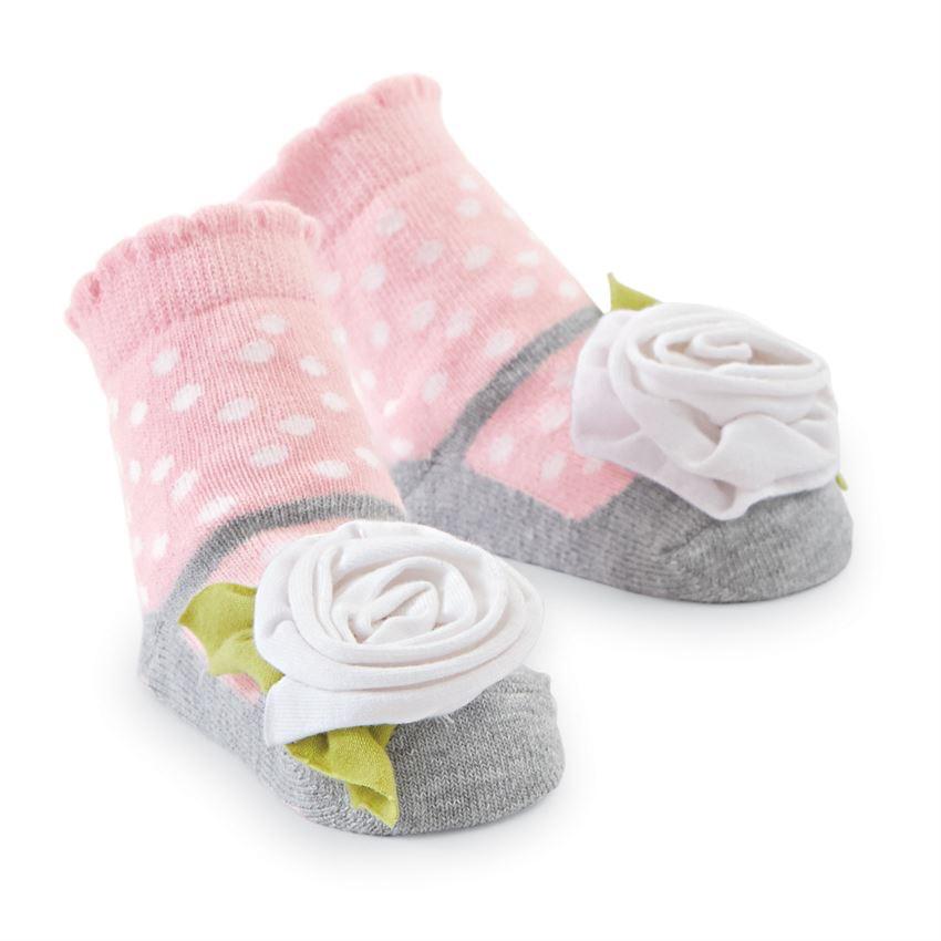 Mud Pie White Flower Socks