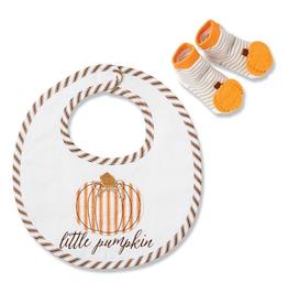Mud Pie Little Pumpkin Bib Sock Set