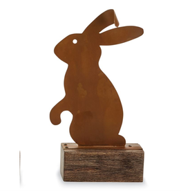 Mud Pie Large Rustic Tin Bunny