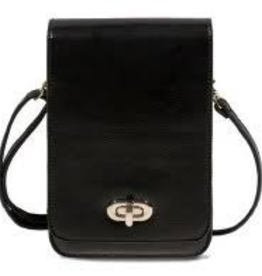 Save the Girls Classic Elegance Leather RFID Cell Phone Purse/Black