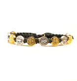 Benedictine Blessing Bracelet - Gold/Silver Medals & Slate