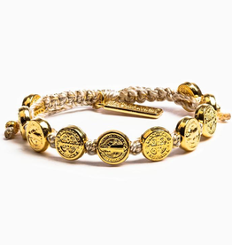 Benedictine Blessing Bracelet - Metallic Gold