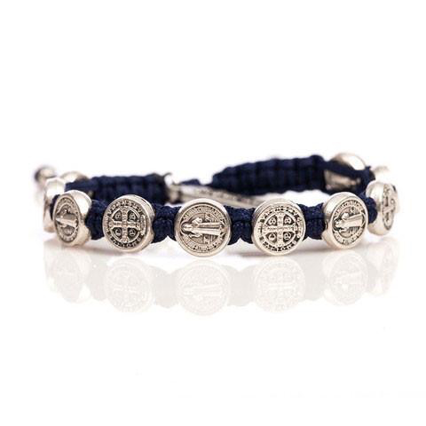 Benedictine Blessing Bracelet - Gold Medals & Navy