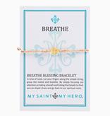 My Saint My Hero - Breathe Blessing Bracelet - Gold Medal - Metallic Copper