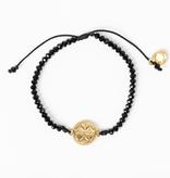 My Saint My Hero - Empower Seed of Life of Illuminate Bracelet - Black/Gold