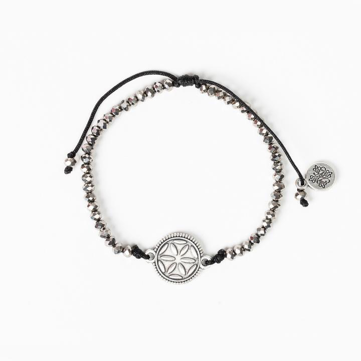 My Saint My Hero - Empower Seed of Life of Illuminate Bracelet - Silver/Silver