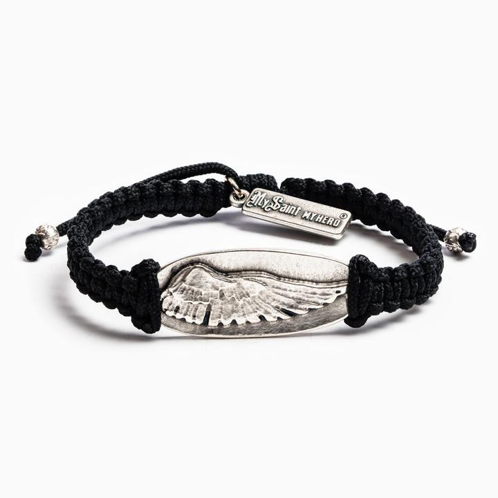 My Saint My Hero - Guardian Angel Wing of Protection - Black/Silver