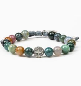 My Saint My Hero - Luck Power Bracelet - Agate/Silver