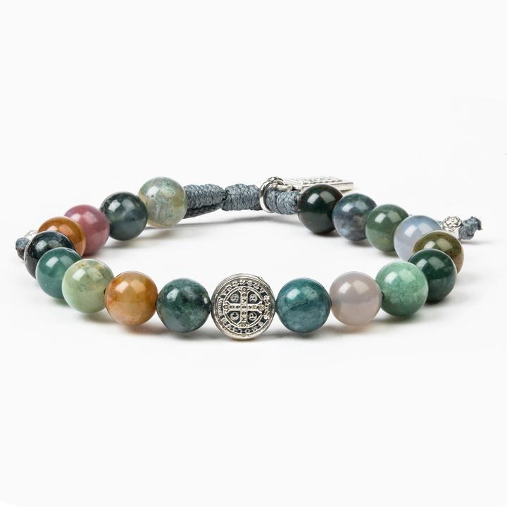 My Saint My Hero - Luck Power Bracelet - Agate/Silver