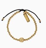 Mantra of Love Bracelet - Gold & Black