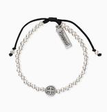 My Saint My Hero - Mantra of Love Bracelet Silver/Black