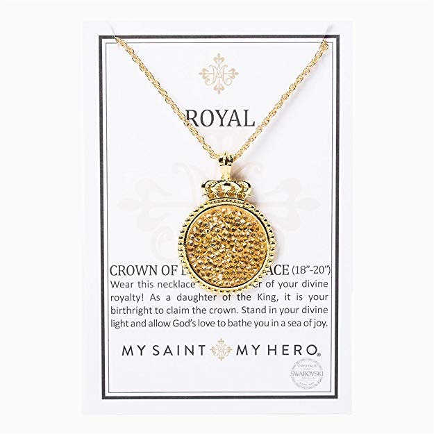 My Saint My Hero - Royal Crown of Light Necklace - Golden Shadow/Gold
