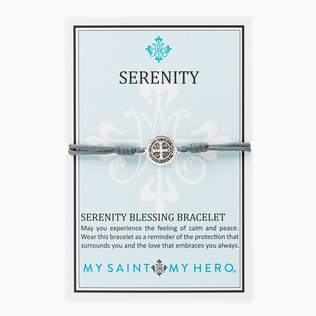 My Saint My Hero - Serenity Bracelet-Slate/Silver