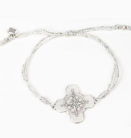 My Saint My Hero - True North Bracelet Metallic Silver/Silver