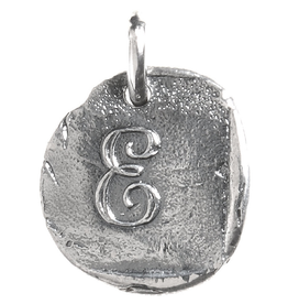 Waxing Poetic Baby Insignia Charm- Silver- Letter E