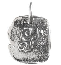 Waxing Poetic Baby Insignia Charm- Silver- Letter G