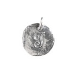 Waxing Poetic Baby Insignia Charm- Silver- Letter J