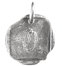 Waxing Poetic Baby Insignia Charm- Silver- Letter O