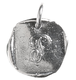 Waxing Poetic Baby Insignia Charm- Silver- Letter P
