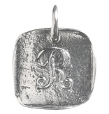 Waxing Poetic Baby Insignia Charm- Silver- Letter R