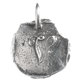 Waxing Poetic Baby Insignia Charm- Silver- Letter V