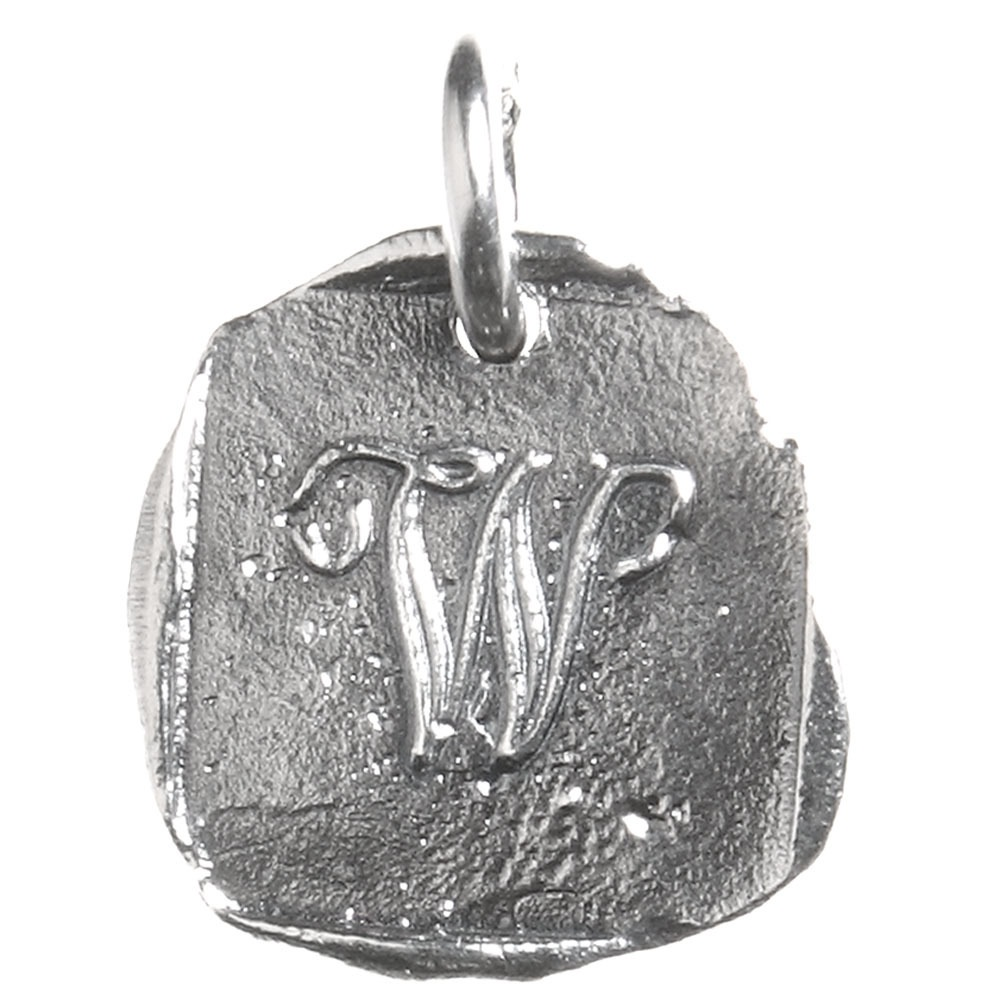 Waxing Poetic Baby Insignia Charm- Silver- Letter W
