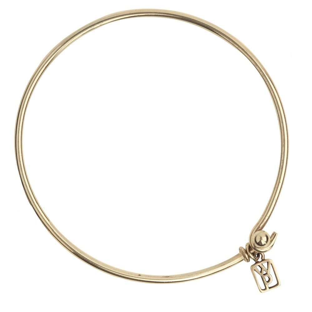 Waxing Poetic Bangle Bracelet - Brass