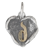 Waxing Poetic Heart Insignia-Brass/Silver-D