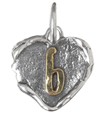 Waxing Poetic Heart Insignia-Brass/Silver-B