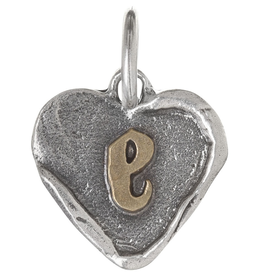 Waxing Poetic Heart Insignia-Brass/Silver-E
