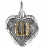 Waxing Poetic Heart Insignia-Brass/Silver-W
