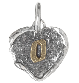 Waxing Poetic Heart Insignia-Brass/Silver-O
