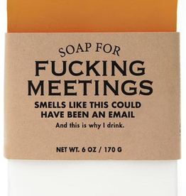 General Gift Whiskey River Soap Company - F*** Meetings - Soap