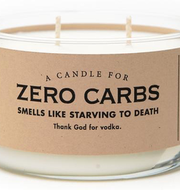 General Gift Whiskey River Soap Company - Zero Carbs - Candle