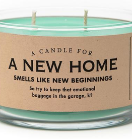 General Gift Whiskey River Soap Company - A New Home - Candle