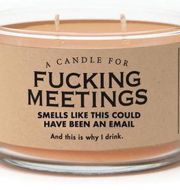 General Gift Whiskey River Soap Company - F*** Meetings - Candle