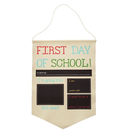 Mud Pie Birthday/School Canvas Banner