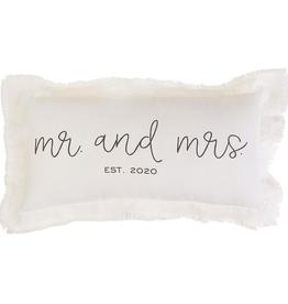 Mud Pie Mr. & Mrs. Est. 2020 Pillow