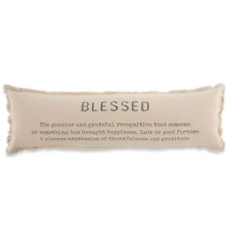 "Mud Pie ""Blessed"" Long Pillow"