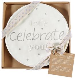 """Mud Pie """"Celebrate You"""" Plate"""