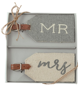 "Mud Pie ""Mr. & Mrs."" Luggage Tags"